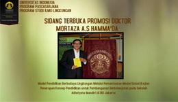 Sidang Promosi Doktor Mortaza A. Syafinuddin Hamma'da