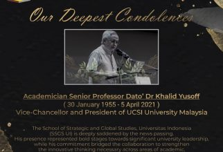 UCSI's Vice-Chancellor and President passed away